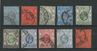 Hong Kong Kevii Stamps Used In Shanghai Treaty Port