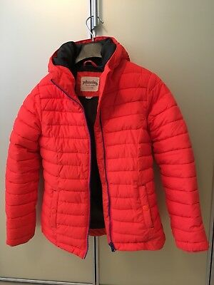 Johnnie b Boden Girl's Orange Puffa Padded Coat Jacket 9-10 Yrs