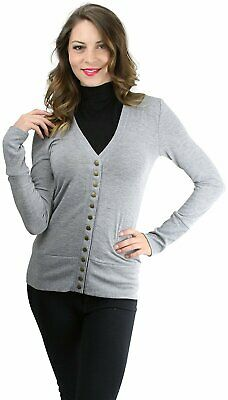 4f1b452d151 TOBEINSTYLE WOMEN'S MIXED Knit Long Sleeve V-Neck Button Front Cardigan  Sweater