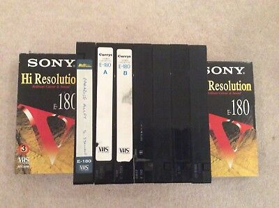 VHS Blank Video Tapes X9