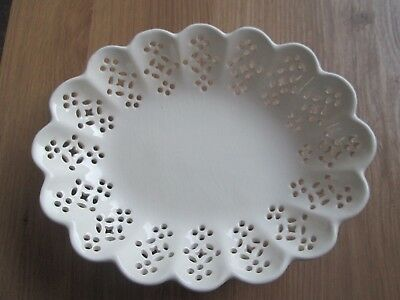 Royal Creamware Occasions Oval Pierced Dish