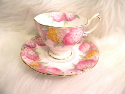 Candytuft Tea Cup and Saucer Pink Floral Royal Albert Bone China England