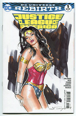 Wonder Woman-Original Art By J.Taylor/Justice DC Sketch Comic Sexy Cover Rebirth
