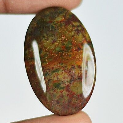 36ct Natural Best Grade Blood Stone Oval Cabochon from Africa AR39