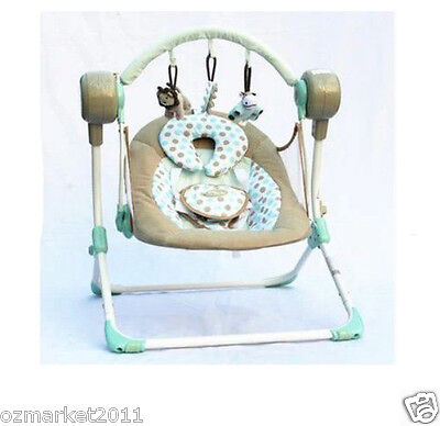 Luxury Security Grey Blue Multi-Purpose Baby Swing Chair/Baby Rocking Chair XP