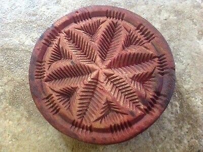 Antique Geometric Design Butter Stamp