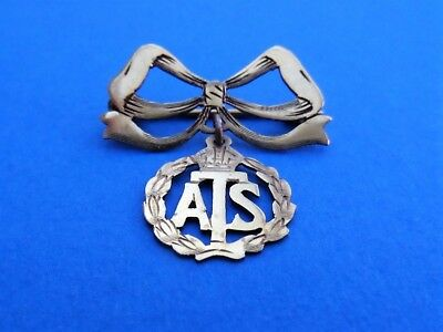WW2 9 ct Gold A.T.S. (Auxilary Territorial Service) Sweetheart Brooch Badge Pin
