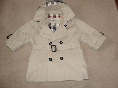 Authentic Burberry rain coat age 6mths perfect condition