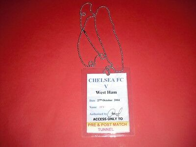 2004/05 League Cup Chelsea V West Ham Official Media Pass Ticket
