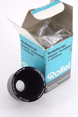 Rollei Rolleiscop Heidosmat 50mm f/2.8 Projection Lens, boxed EXC++