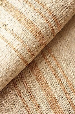 Grain sack grainsack fabric WASHED linen 23.5 YARDS RARE caramel grain sack old