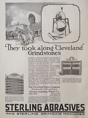 Vintage 1924 Ad(F16)~Cleveland Grindstones, Sterling Grinding Wheel Co. Tiffin,o