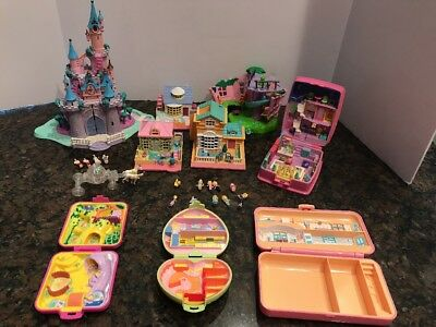 Vintage Bluebird Polly Pocket HUGE Lot - Compacts, Houses & Figures