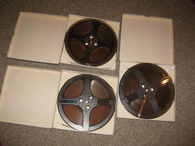 """3x 7"""" MIP reel to reel spool recording tapes vintage old collectables"""