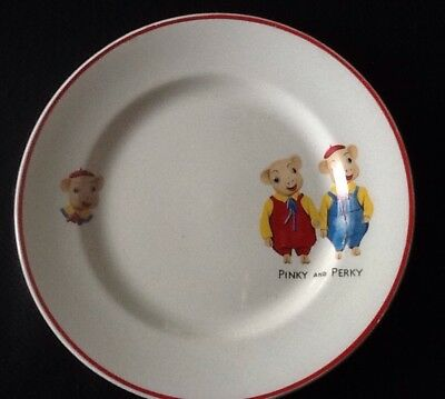 Pinky and Perky Small Plate 1960's by Keele Pottery