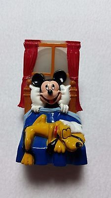 Vintage Disney Mickey Mouse Pluto Night Light Plastic Working Condition