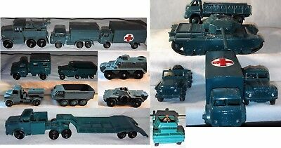 Job lot of 16 military die cast models Dinky, Corgi and Matchbox