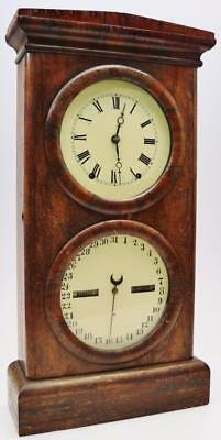 Antique Wall Clock Anglo/America Day/Date & Month Striking 8 Day Mantel Clock