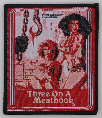 Three on a Meathook PATCH - HORROR movie - Gore, 70s, slasher, exploitation, VHS