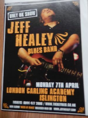Jeff Healey : Cutting For Unplayed Gig