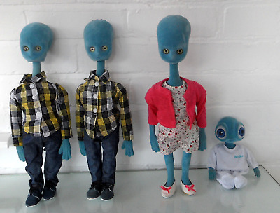 4 x  Just Landed 'Argos' Aliens  Chad Valley Collectible Dolls Figures