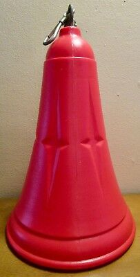 Vintage LARGE 16 Inch Tall Hanging Red Plastic Electric Lighted Christmas Bell