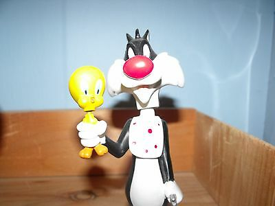 "Warner Bros Looney Tunes 6.5"" Sylvester & Tweety Bird Resin Bobblehead/Nodder"