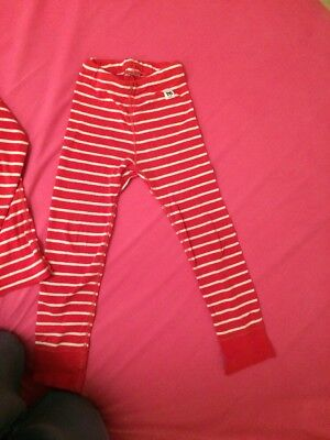 Polarn O Pyret Red & White Stripe Top & Bottoms Organic Cotton 3-4 Yrs 104cm