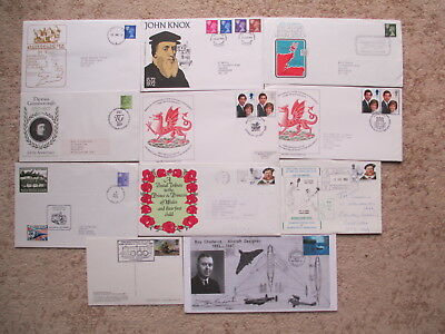 Collection Of 11 Event Covers 1972-1997, Royalty, Sport, Aircraft, Railways Etc