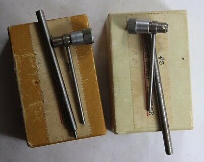 2 Vintage Watchmakers Balance Staff Remover Staking Tool Set