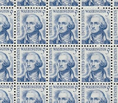 1283B   5c  WASHINGTON          FULL  SHEET OF  100   SPECIAL SALE AT FACE