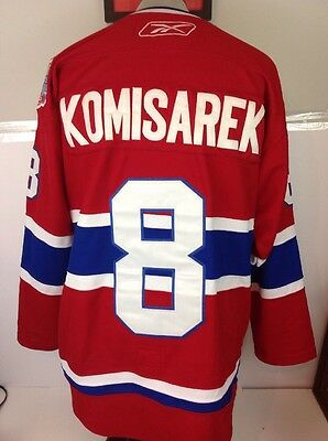 Montreal Canadiens Authentic Reebok CCM Jersey Komisarek 100th Season Patch 50