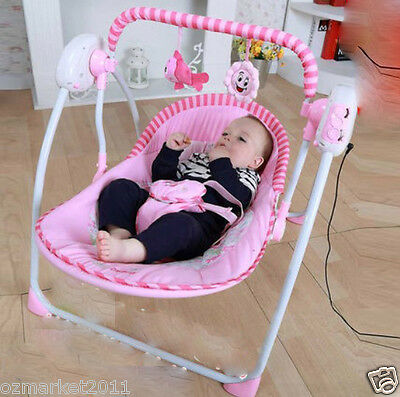 Fashion Pink Security Multi-Purpose Baby Swing Chair/Baby Rocking Chair AQ