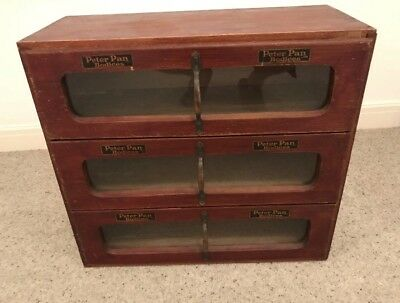 1920s pine Peter Pan bodices advertising and shop display Cabinet 60x27x56cm