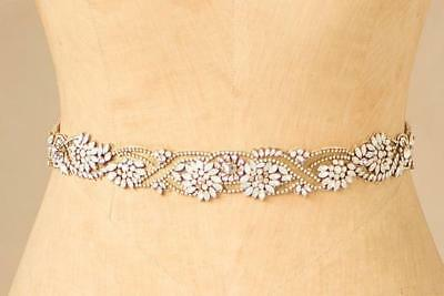 NWT $498 Camilla Christine Martha Jeweled Sash in Gold