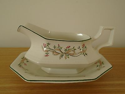 Johnson Brothers Eternal Beau Gravy Boat and Saucer  - VGC