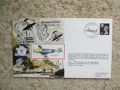 50th ANNIV OF THE FIRST ATTACK ON BERLIN 1940, RAF OFFICIAL FLOWN COVER