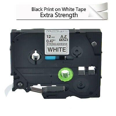 Label Tape extra strength adhesive for Brother P-Touch TZe-S231 TZES231 1/2''
