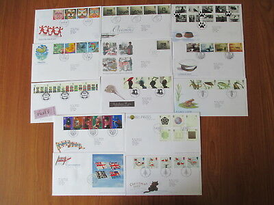 2001 Collection Of 13 First Day Covers All With Special Handstamps