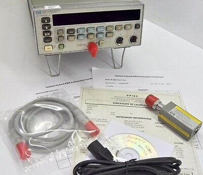 HP Agilent 438A Power Meter, 8482A Sensor NIST Calibrated with Certificate