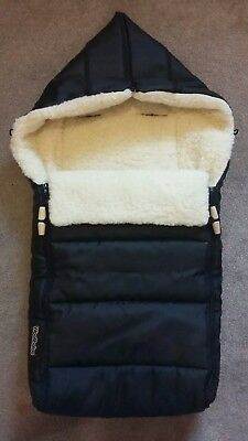 Woolibaloo luxury hooded cosytoe/footmuff for pushchair/pram/buggy - Black