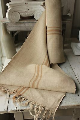 Grain sack grainsack fabric old WASHED  linen HEMP Eco-friendly Organic 11.2