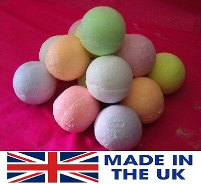 2 Fantastic Large Bath Bombs Fizzy 10 Mixed Fragrances Hand Made By Juicy