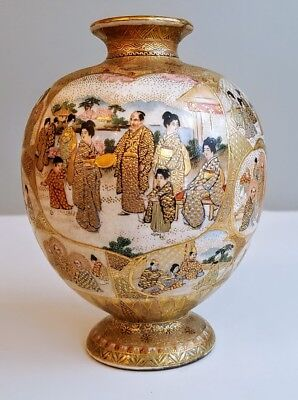 Remarkable Meiji Period Satsuma Vase Signed By Maker Museum Quality