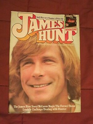 JAMES HUNT MAGAZINE+Original+April-May 1977+Great MotorRace Mag+McLaren+Ferrari+