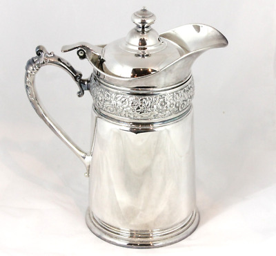 Tiffany & Co Floral Silver Soldered Large Pitcher