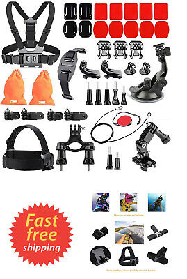 44-In-1 Action Camera Accessory Kit for GoPro Hero Black 4 5 Session Fitfort 4K
