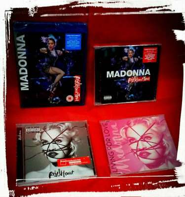 Madonna Rebel Heart Tour Blu Ray + 2 Cd + Living For Love + Cd Esclusive Fnac .