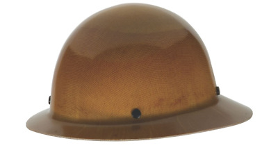 MSA Skullgard Fiber Glass FB Hard Hat With Ratchet Susp Natural Tan