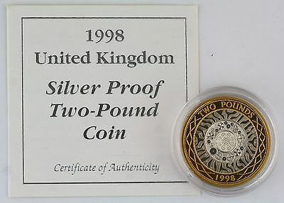 1998 Standing on the Shoulders of Giants Silver Proof £2 coin screw capsule COA